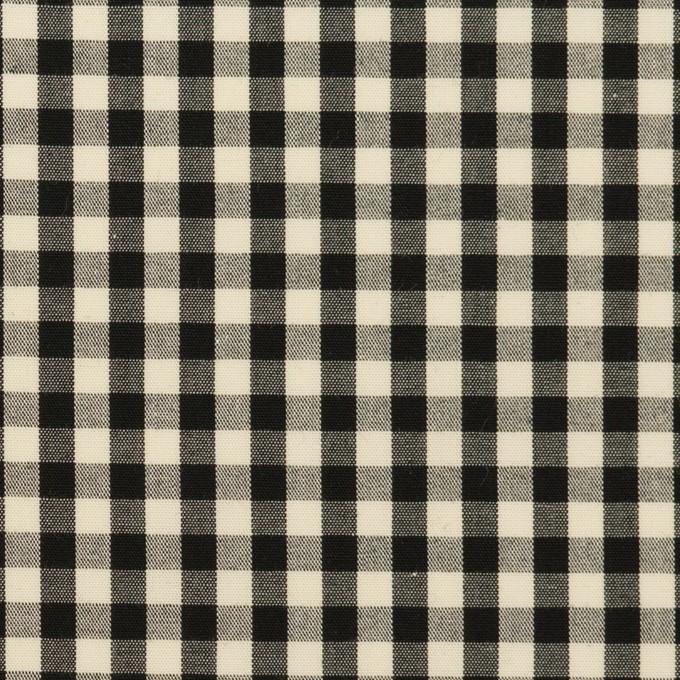 コットン×チェック(ブラック&エクリュ)×ブロード イメージ1