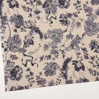 リネン×フラワー(ラベンダー&グレイッシュベージュ)×薄キャンバス サムネイル2
