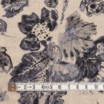リネン×フラワー(ラベンダー&グレイッシュベージュ)×薄キャンバス サムネイル4