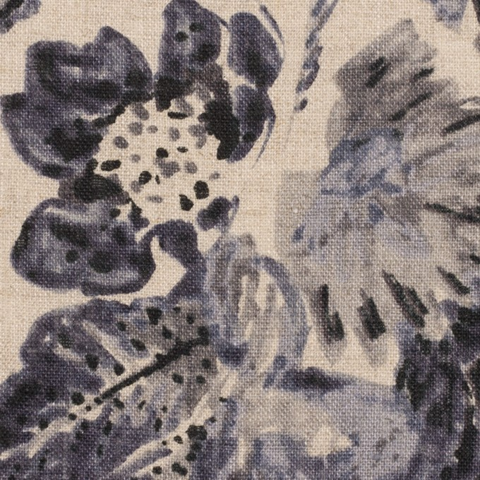 リネン×フラワー(ラベンダー&グレイッシュベージュ)×薄キャンバス イメージ1