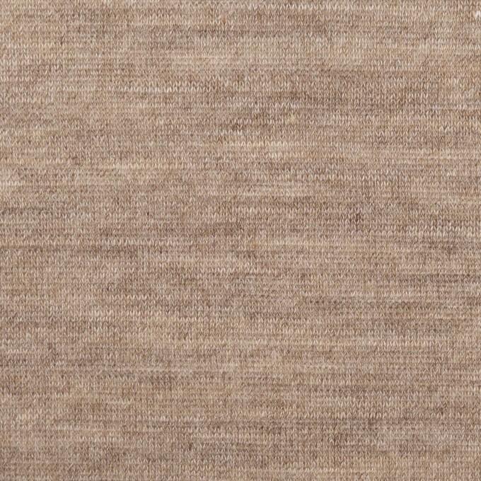 レーヨン&リネン×無地(モカ)×天竺ニット イメージ1