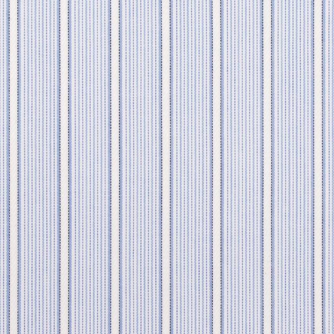 コットン×ストライプ(サックス)×ブロードジャガード イメージ1