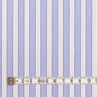 コットン×ストライプ(ヒヤシンスブルー)×ブロード サムネイル4