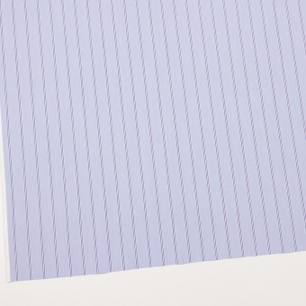 コットン&ポリウレタン×ストライプ(ライトブルー&ネイビー)×ブロードストレッチ サムネイル2