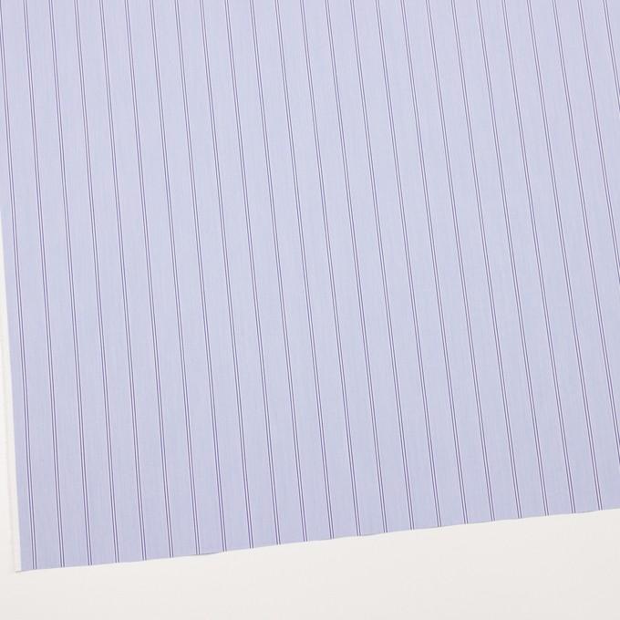 コットン&ポリウレタン×ストライプ(ライトブルー&ネイビー)×ブロードストレッチ イメージ2