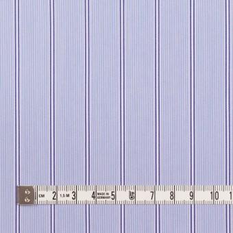 コットン&ポリウレタン×ストライプ(ライトブルー&ネイビー)×ブロードストレッチ サムネイル4