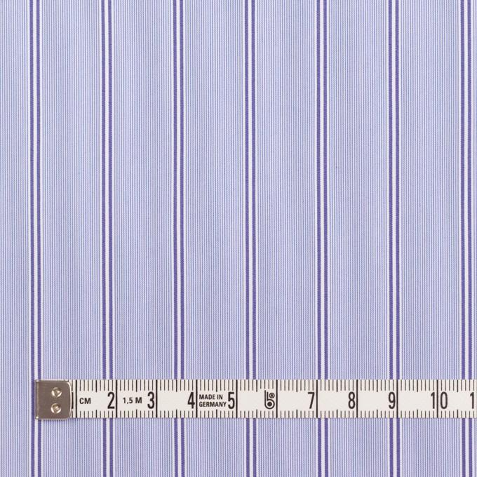 コットン&ポリウレタン×ストライプ(ライトブルー&ネイビー)×ブロードストレッチ イメージ4