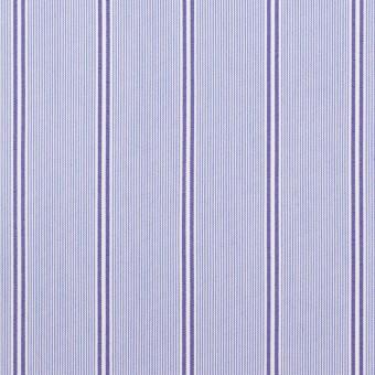 コットン&ポリウレタン×ストライプ(ライトブルー&ネイビー)×ブロードストレッチ サムネイル1