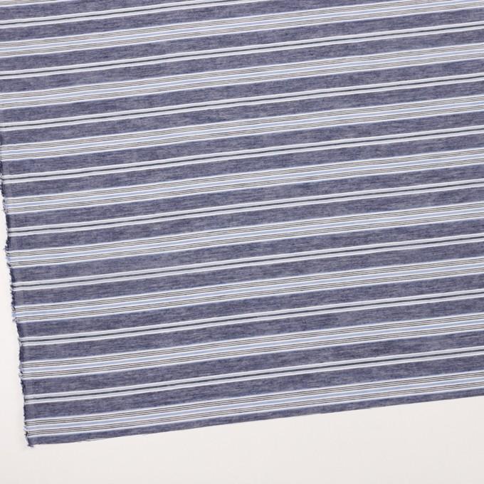 コットン&テンセル×ボーダー(アッシュネイビー)×ボイル_全2色 イメージ2