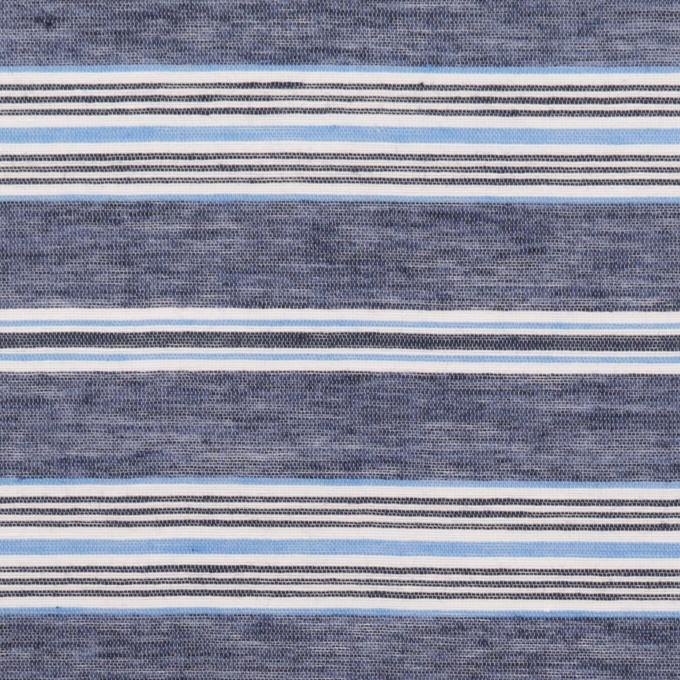 コットン&テンセル×ボーダー(アッシュネイビー)×ボイル_全2色 イメージ1