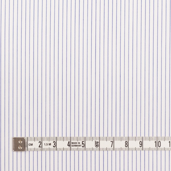 コットン&ポリエステル×ストライプ(ブルー)×ピケ イメージ4