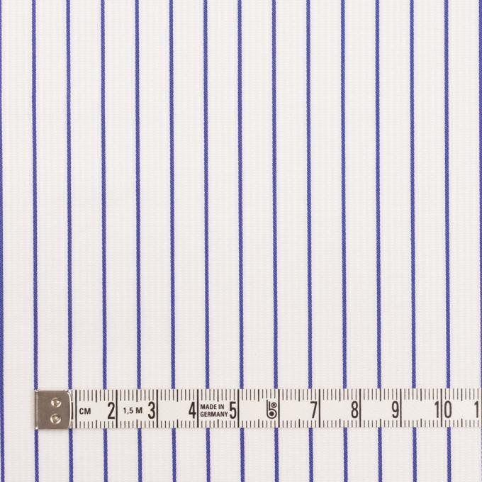 コットン×ストライプ(ブルー)×ピケ イメージ4