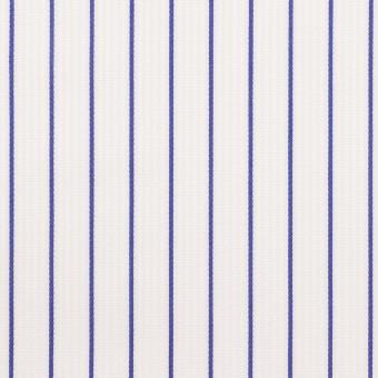コットン×ストライプ(ブルー)×ピケ サムネイル1