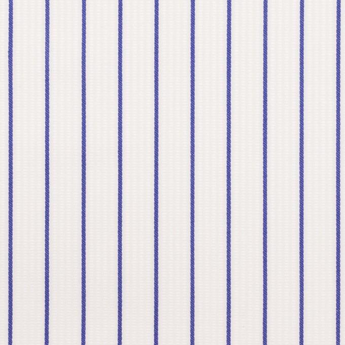 コットン×ストライプ(ブルー)×ピケ イメージ1