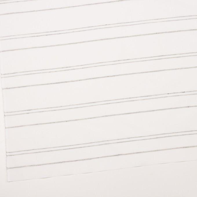 コットン×ボーダー(オフホワイト&グレー)×ブロードジャガード イメージ2