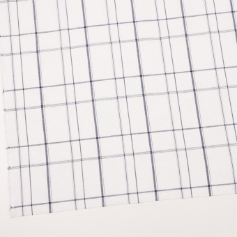 コットン&リネン×チェック(ホワイト&ネイビー)×薄シーチング サムネイル2