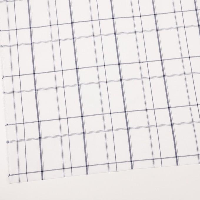コットン&リネン×チェック(ホワイト&ネイビー)×薄シーチング イメージ2