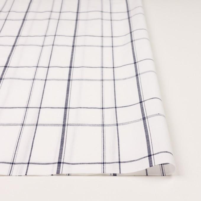 コットン&リネン×チェック(ホワイト&ネイビー)×薄シーチング イメージ3