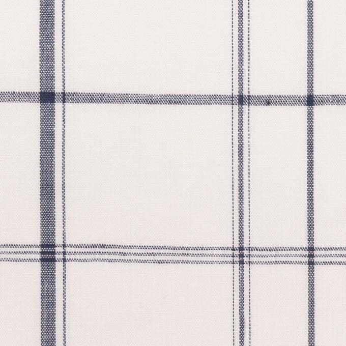 コットン&リネン×チェック(ホワイト&ネイビー)×薄シーチング イメージ1