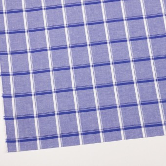 コットン&リネン×チェック(プルシアンブルー)×薄シーチング サムネイル2