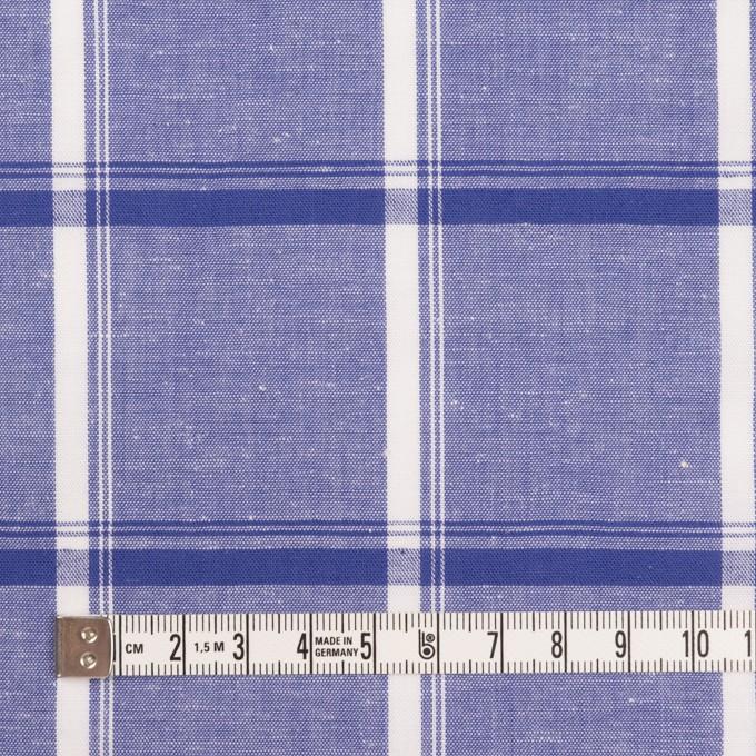 コットン&リネン×チェック(プルシアンブルー)×薄シーチング イメージ4