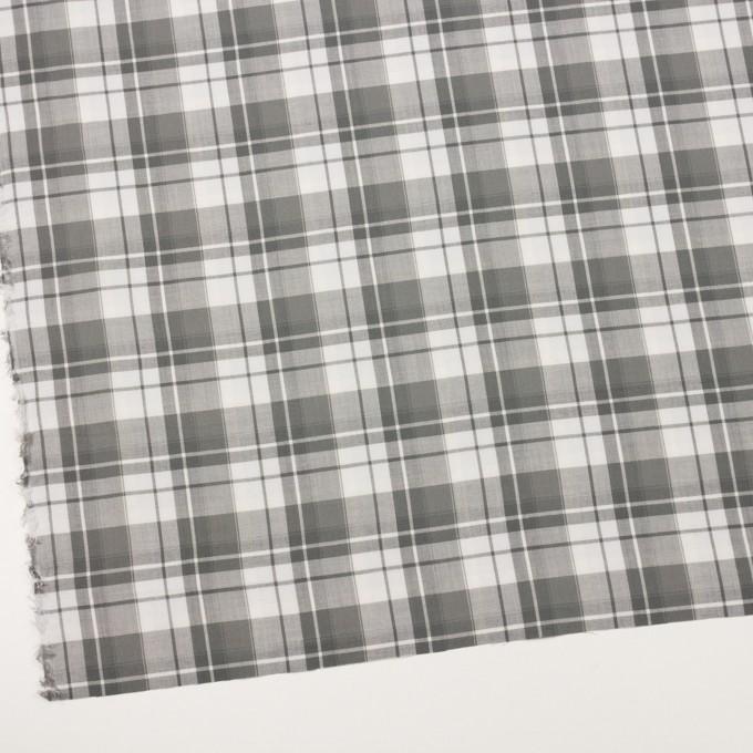 コットン&ポリエステル×チェック(ストーングレー)×ヘリンボーン イメージ2