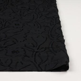 コットン&シルク×フラワー(ブラック)×オーガンジー・カットジャガード サムネイル3