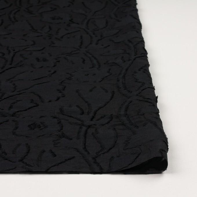 コットン&シルク×フラワー(ブラック)×オーガンジー・カットジャガード イメージ3