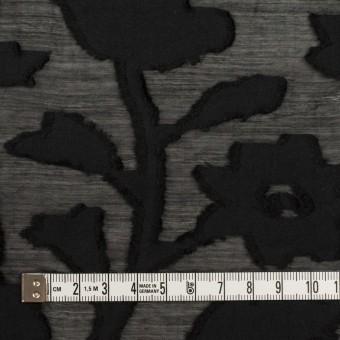コットン&シルク×フラワー(ブラック)×オーガンジー・カットジャガード サムネイル4