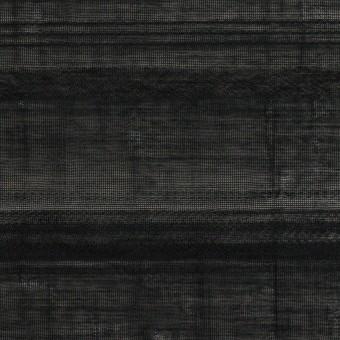 コットン&ナイロン×ボーダー(ブラック)×ボイルジャガード