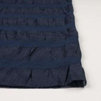 シルク&レーヨン×ボーダー(プルシアンブルー)×オーガンジー・ジャガード_全2色 サムネイル3