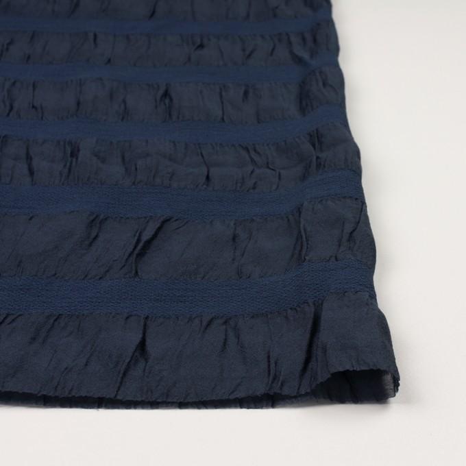 シルク&レーヨン×ボーダー(プルシアンブルー)×オーガンジー・ジャガード_全2色 イメージ3