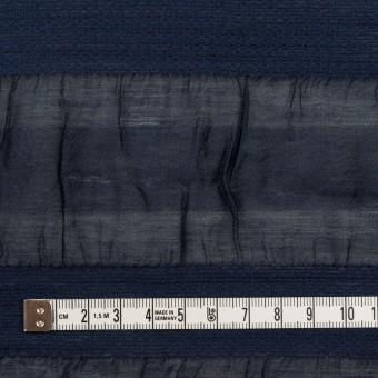 シルク&レーヨン×ボーダー(プルシアンブルー)×オーガンジー・ジャガード_全2色 サムネイル4