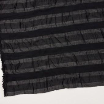 シルク&レーヨン×ボーダー(ブラック)×オーガンジー・ジャガード_全2色 サムネイル2