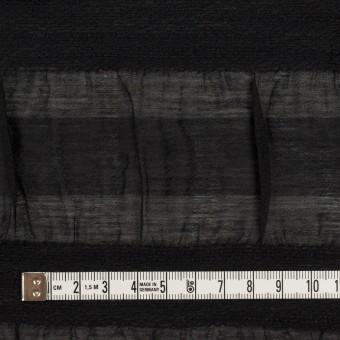 シルク&レーヨン×ボーダー(ブラック)×オーガンジー・ジャガード_全2色 サムネイル4