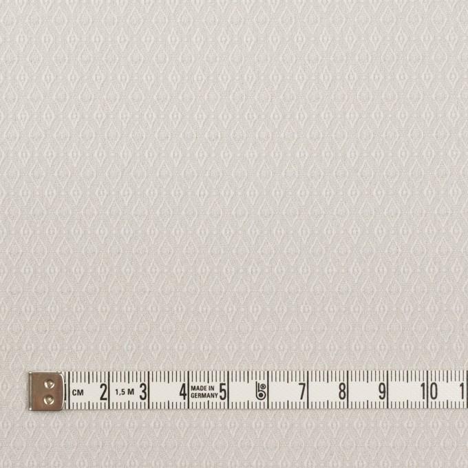 コットン&ポリウレタン×小紋(オイスターグレー)×ジャガード・ストレッチ イメージ4