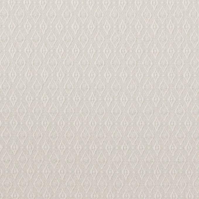 コットン&ポリウレタン×小紋(オイスターグレー)×ジャガード・ストレッチ イメージ1