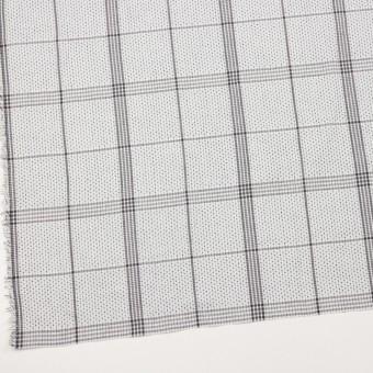 コットン×チェック(ライトグレー&グレー)×刺し子 サムネイル2