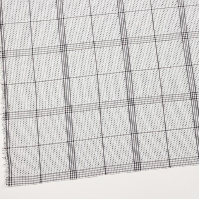 コットン×チェック(ライトグレー&グレー)×刺し子 イメージ2