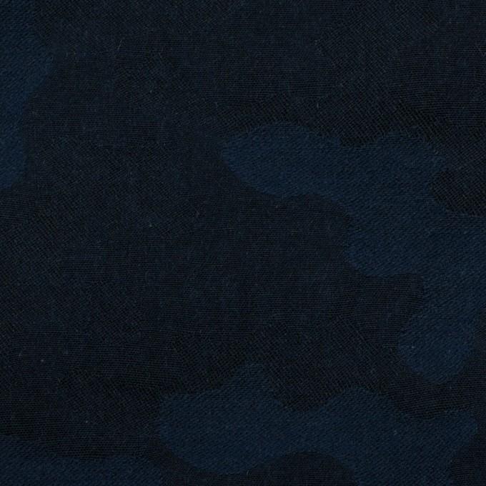 コットン×迷彩(ネイビー)×ジャガード イメージ1