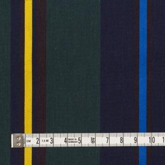 コットン×ストライプ(ネイビー&モスグリーン)×ブロード サムネイル4