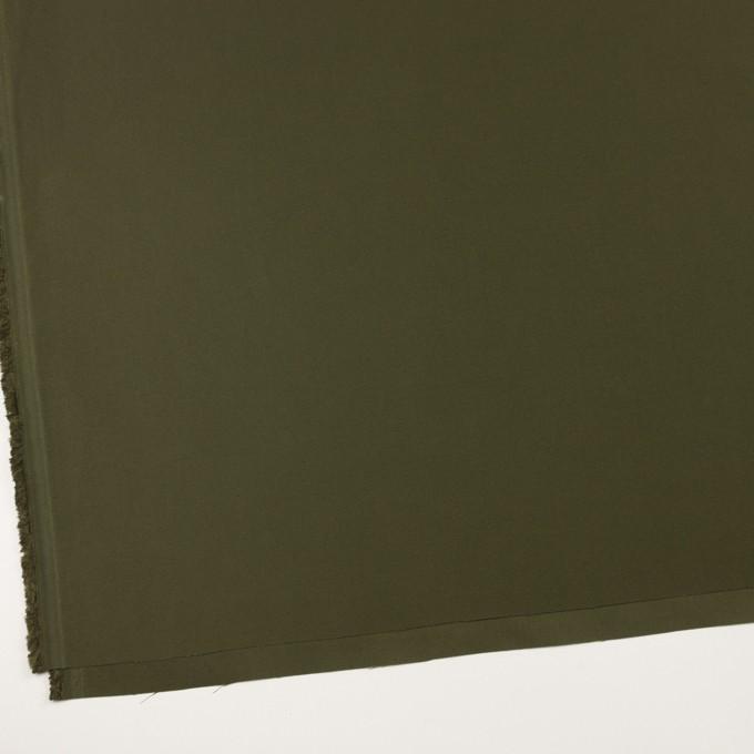 コットン×無地(カーキグリーン)×サテン イメージ2