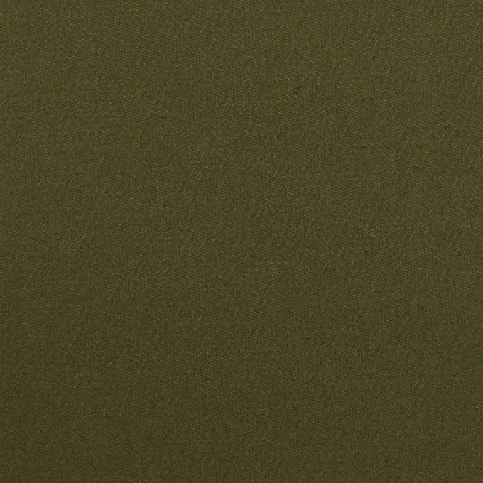 コットン×無地(カーキグリーン)×サテン イメージ1