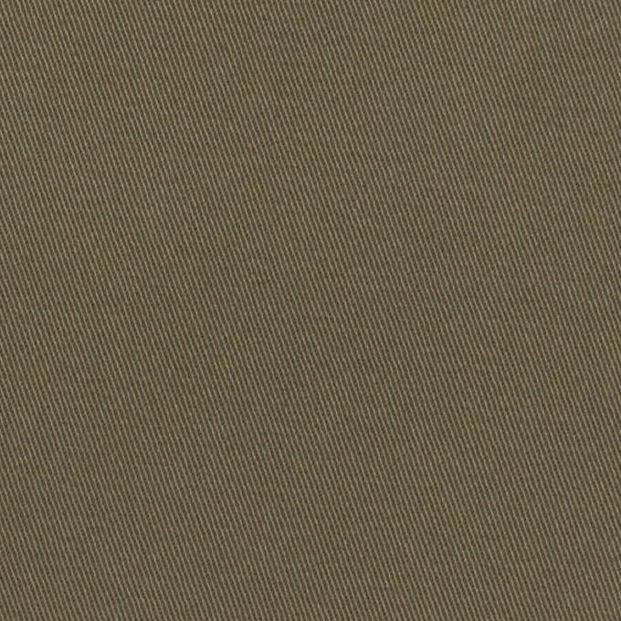 コットン&ポリウレタン×無地(カーキ)×チノクロス・ストレッチ イメージ1