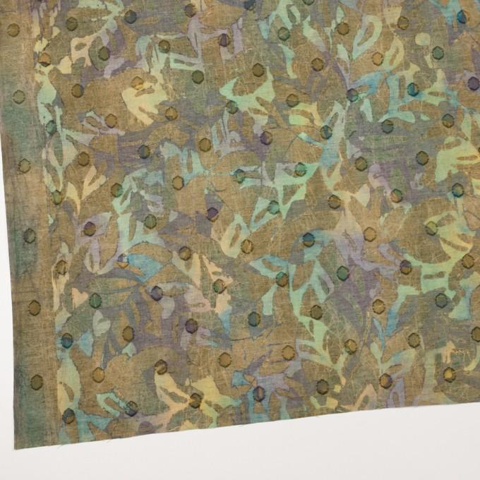 コットン×ペイント(オーカー)×ボイルカットジャガード_全3色 イメージ2