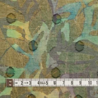コットン×ペイント(オーカー)×ボイルカットジャガード_全3色 サムネイル4