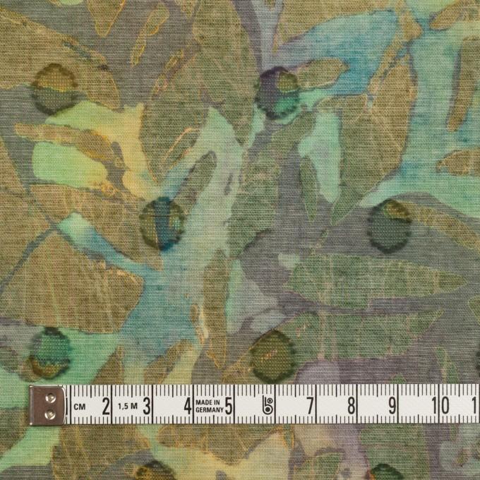コットン×ペイント(オーカー)×ボイルカットジャガード_全3色 イメージ4