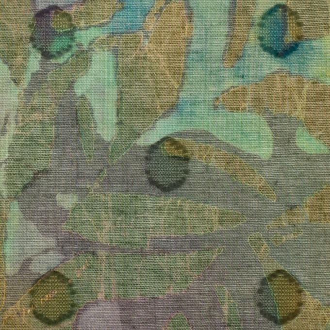 コットン×ペイント(オーカー)×ボイルカットジャガード_全3色 イメージ1