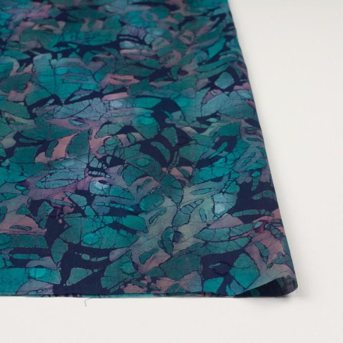コットン×ペイント(エメラルドグリーン)×ボイルカットジャガード_全3色 イメージ3