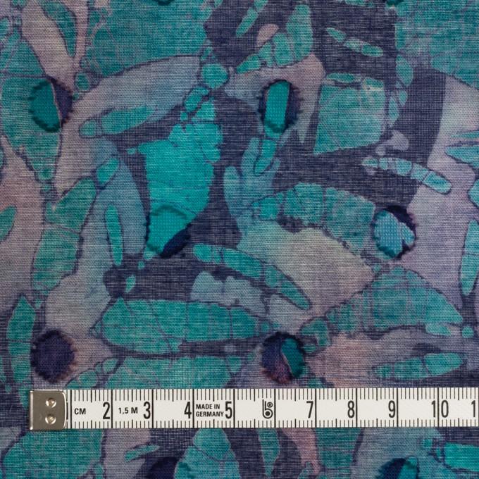 コットン×ペイント(エメラルドグリーン)×ボイルカットジャガード_全3色 イメージ4